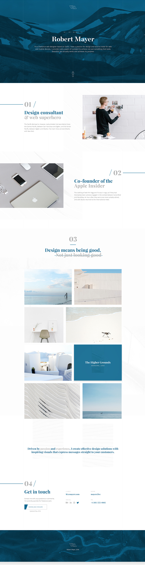 Free Portfolio PSD Website Template