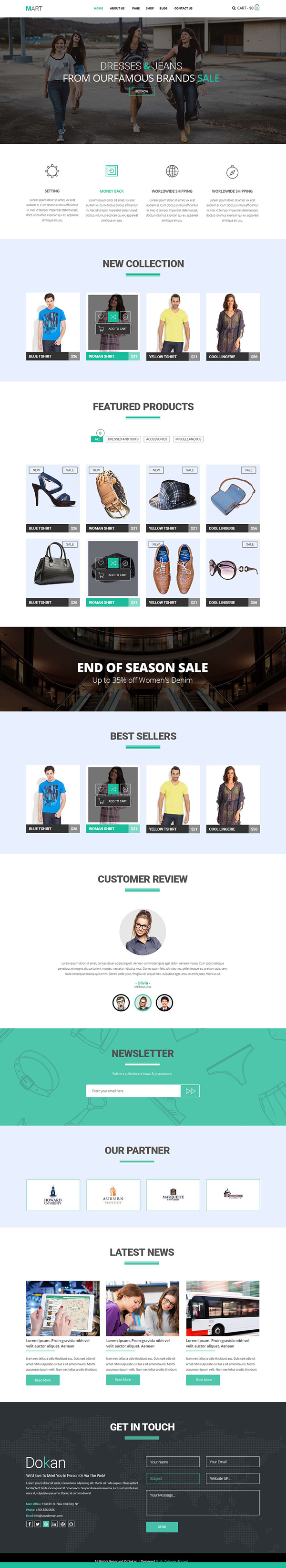 Mart - eCommerce Website Template Free PSD & HTML