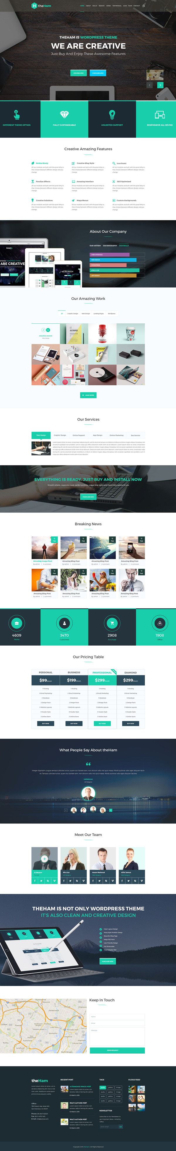 Free Creative Landing Page PSD Template