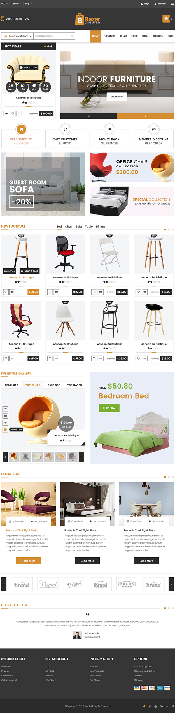 Bazar E-Commerce Free PSD Template