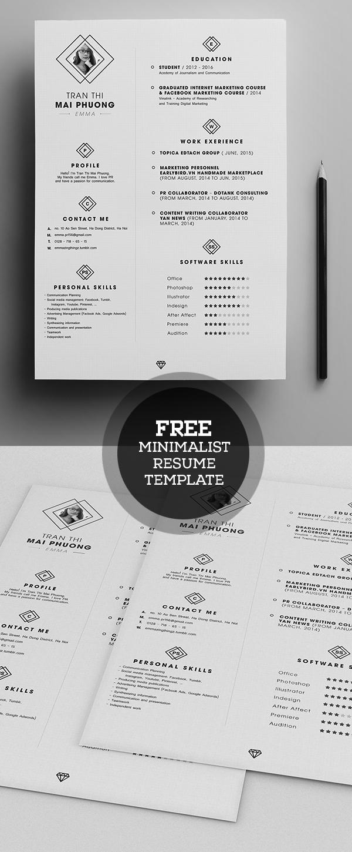 20 free cv    resume templates  u0026 psd mockups
