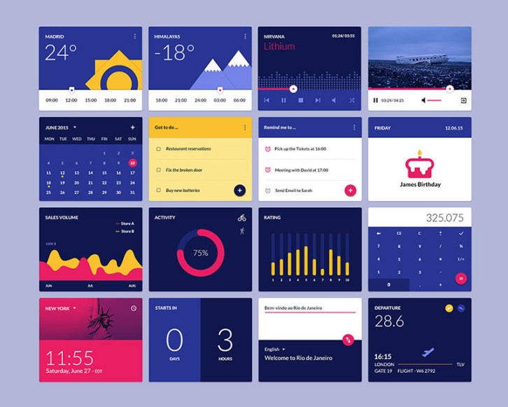 free-material-design-widgets-ui-kit