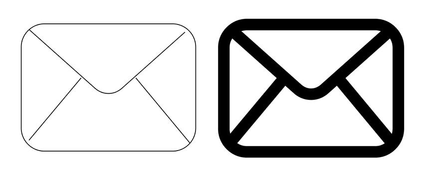 Complete your envelop icon