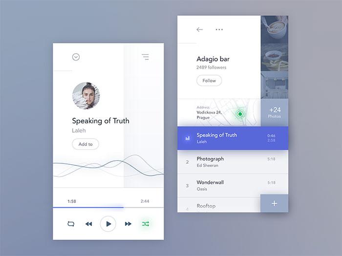 Social music app