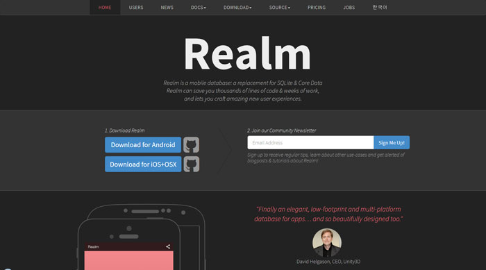 Realm - a mobile database: a replacement for SQLite & Core Data