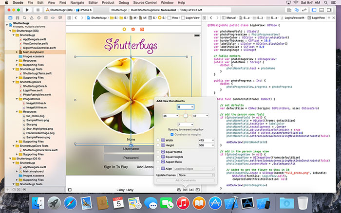 Xcode 6 page from Apple