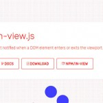 Get Notified when a DOM Element Enters or Exits