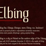 Fresh Free Font Of The Day : Elbing