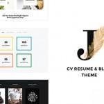 Personal Creative Portfolio, Blog and CV WordPress Theme