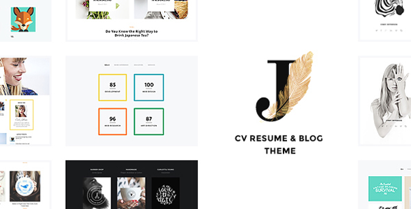 personal creative portfolio  blog and cv wordpress theme