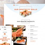 Sushi Bar Responsive Website Template