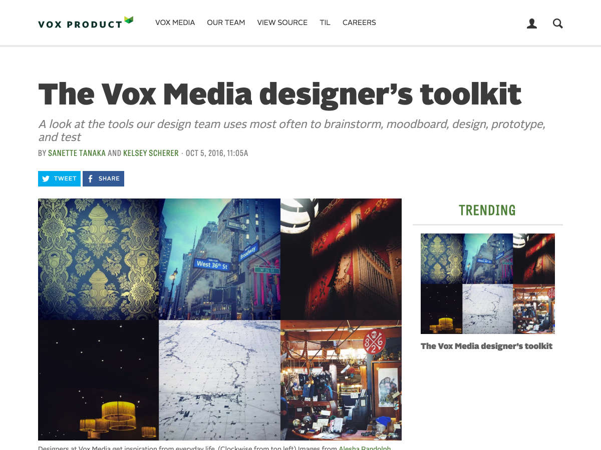 vox media designer's toolkit