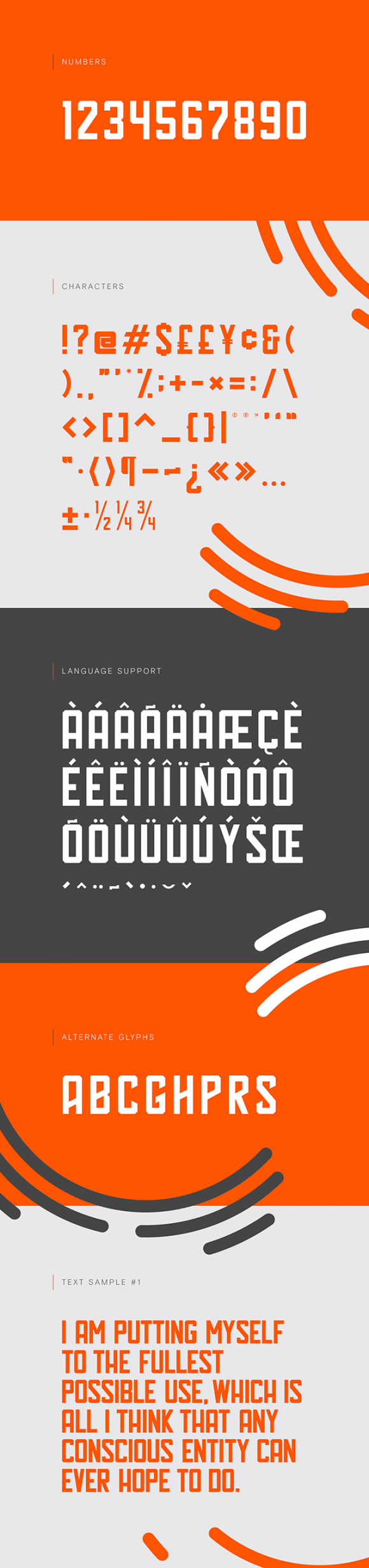 Hal typeface preview image