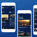 Playstation app redesign – Free Sketch UI kit