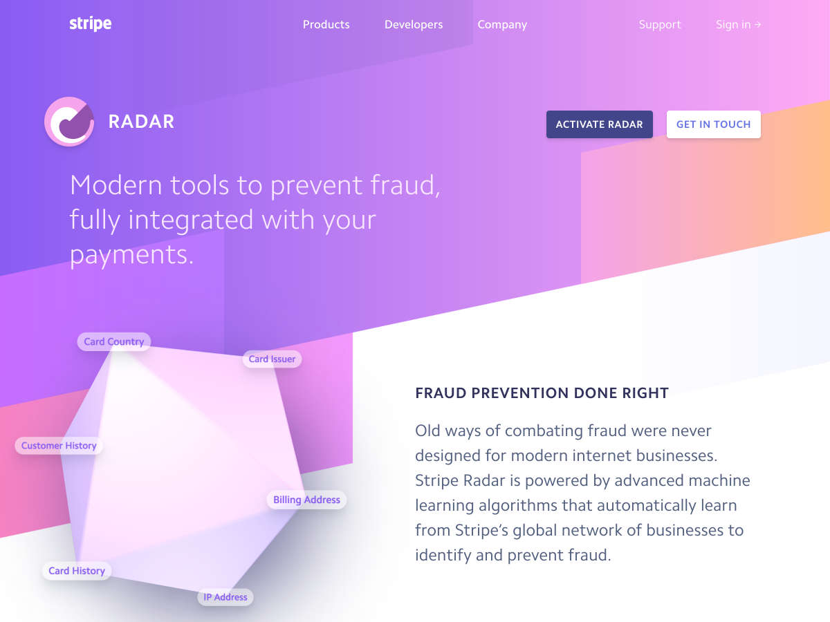 stripe radar