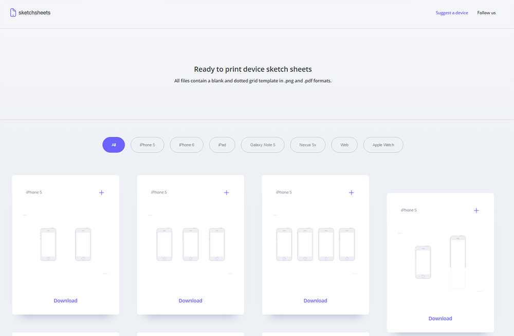 sketch sheets homepage