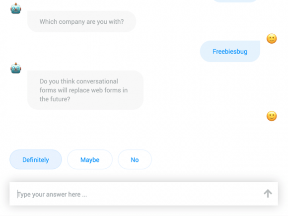 Conversational Forms: Turn web forms into conversations with JS