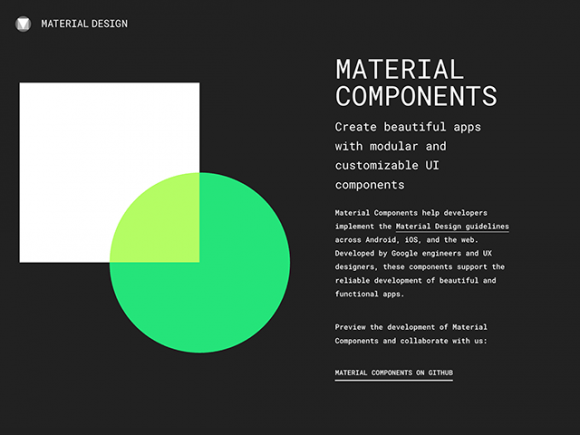 Google's Material Design UI Components