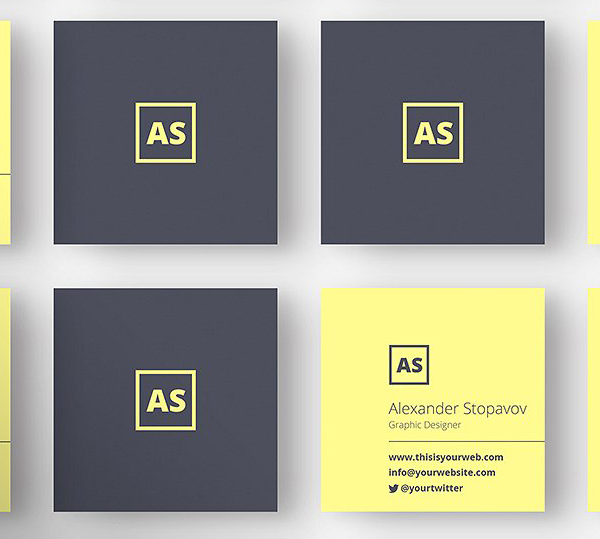 22 mini square business card psd templates design idevie square executive business card reheart Image collections