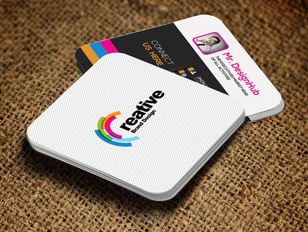 22 mini square business card psd templates design idevie mini social business card template fbccfo Images
