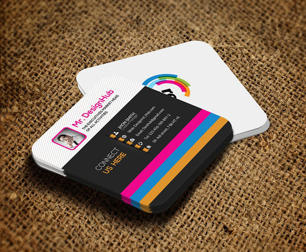 22 Mini Square Business Card PSD Templates Design - iDevie