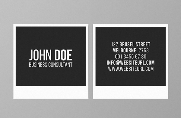 22 mini square business card psd templates design idevie square photography business card template fbccfo Gallery