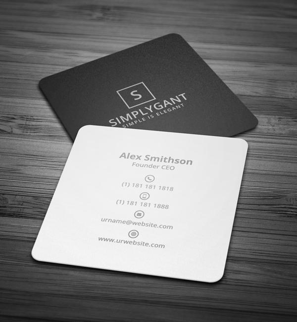 22 mini square business card psd templates design idevie mini square minimal business card wajeb Gallery