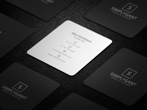 22 mini square business card psd templates design idevie mini square minimal business card reheart Image collections