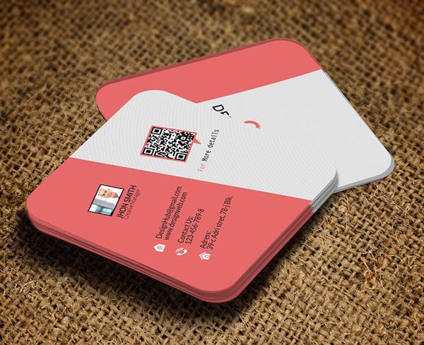 Mini Social Business Card Template