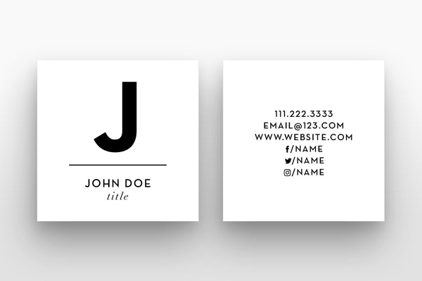 22 mini square business card psd templates design idevie square small initial business card template reheart Gallery