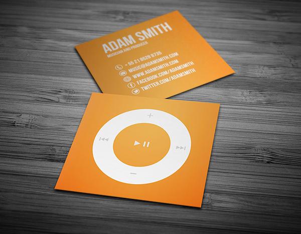 Mini Music Business Card
