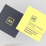 22 Mini Square Business Card PSD Templates Design