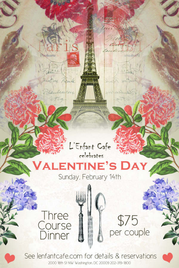 Romantic Valentine's day poster