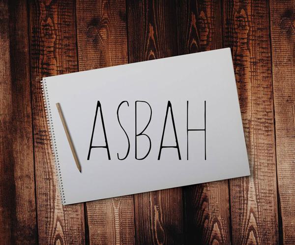 Asbah Serif Free Font