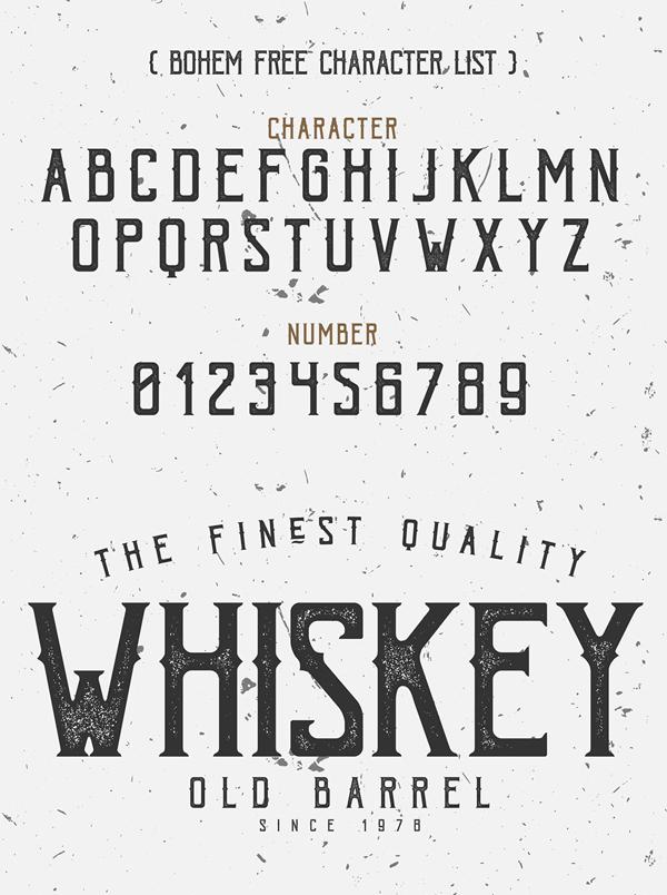 Bohem Font & Letters