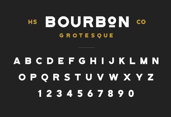 Bourbon Grotesque Font & Letters