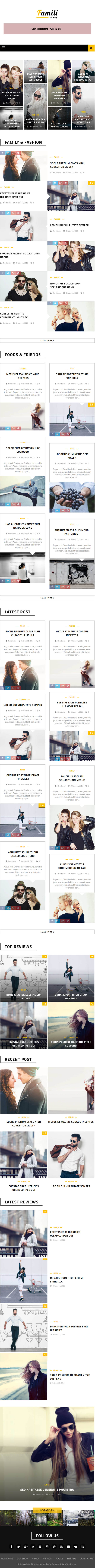 Famili : WordPress Blog and Magazine Theme