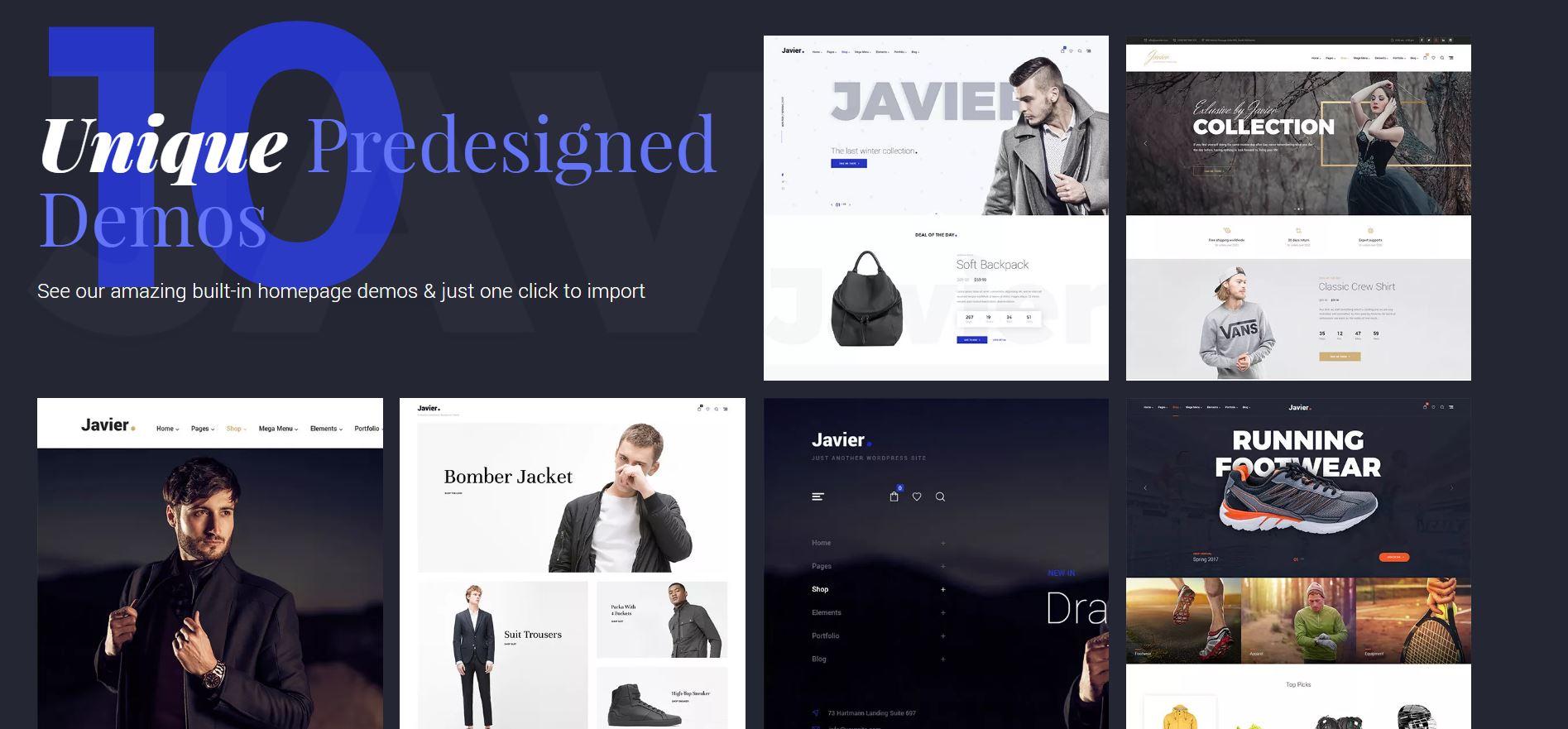 Wordpress theme for shops