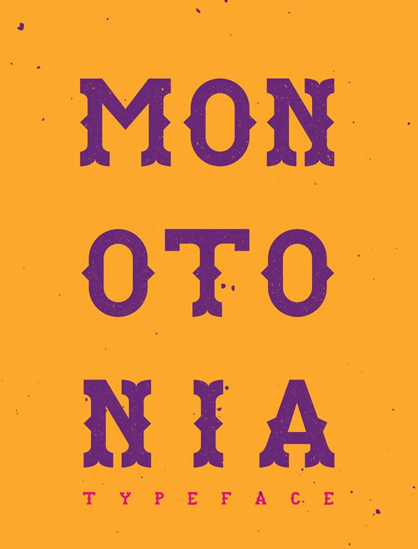 Monotonia Free Font