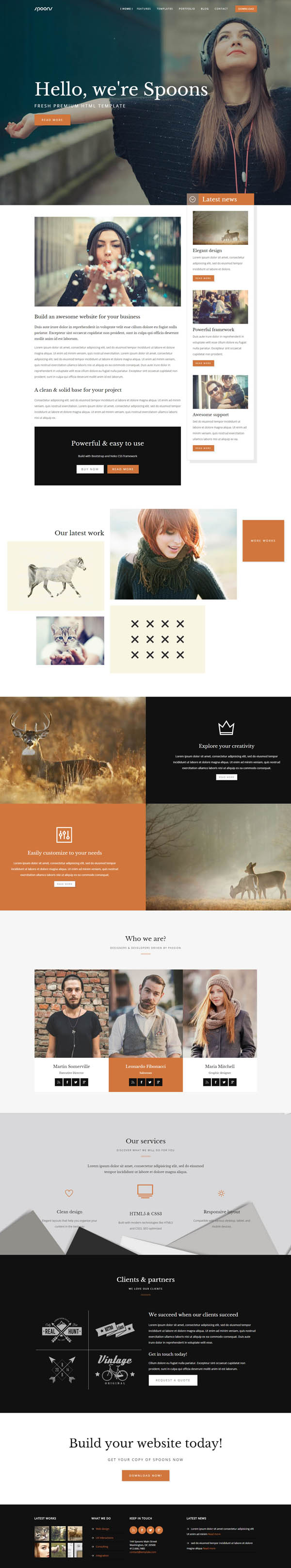 SPOONS | HTML One / Multi page Website Template