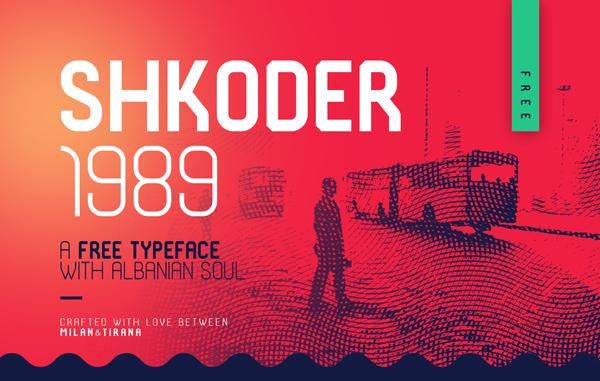 Shkoder 1989 Free Font