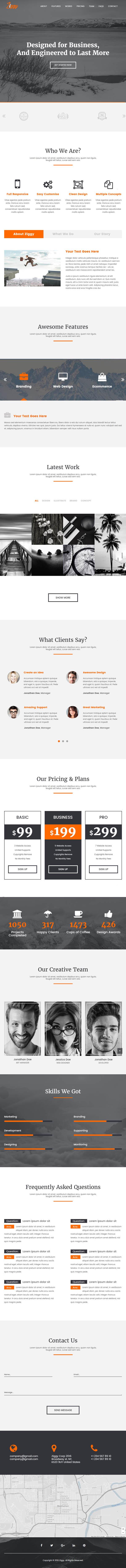 Ziggy - Multipurpose HTML5 Landing Page