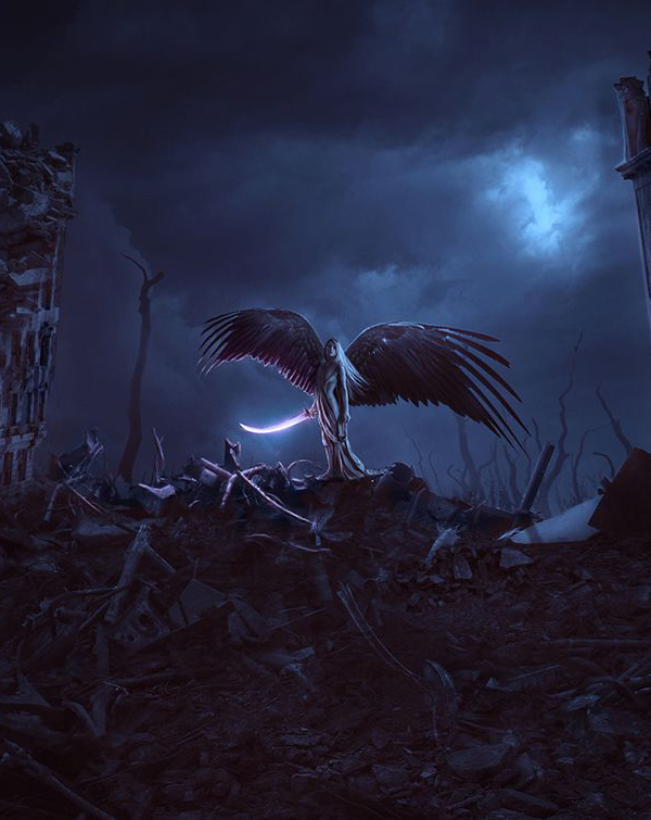 How to Create an Apocalypse Angel Photo Manipulation Scene With Adobe Photoshop