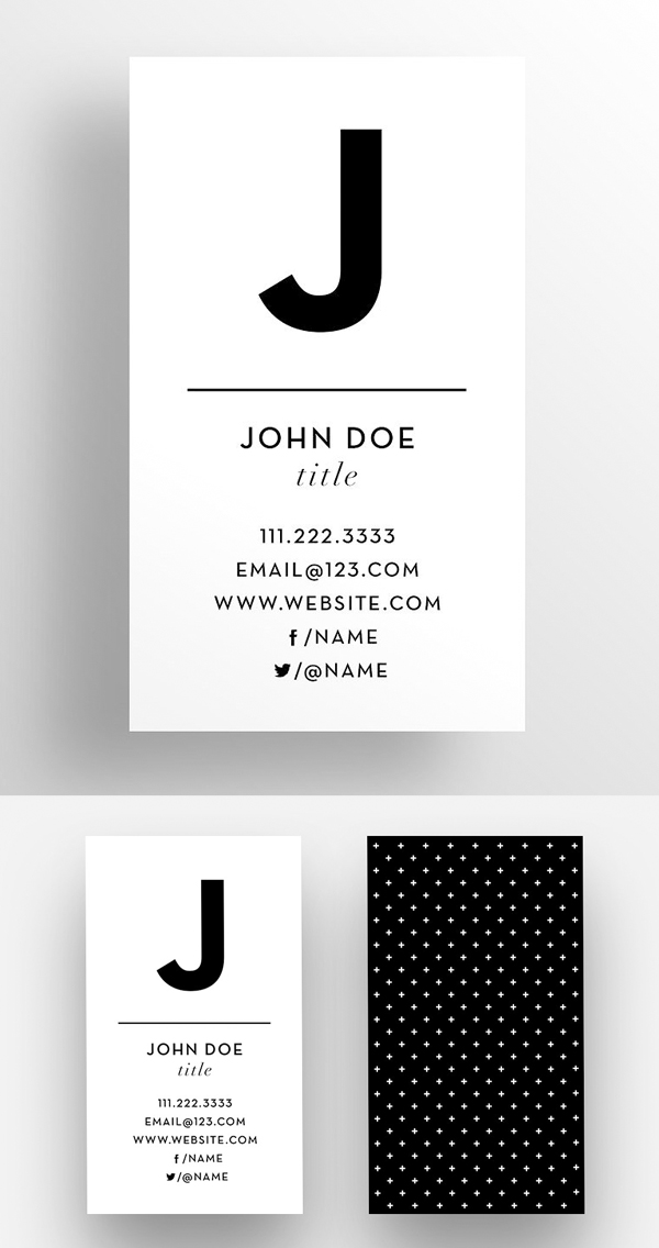 The Initial - Business Card Template