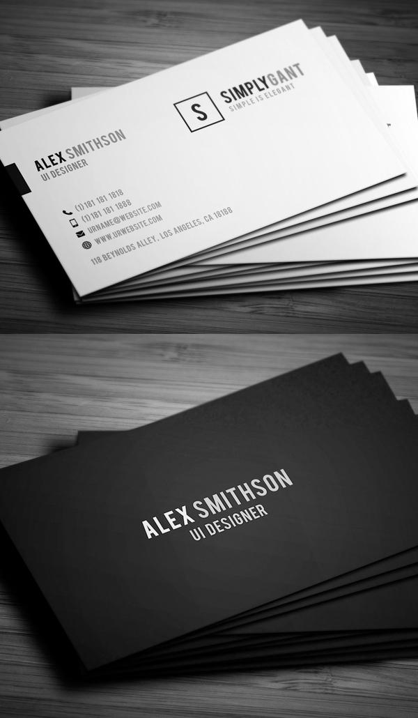 Sleek Elegant Business Cards