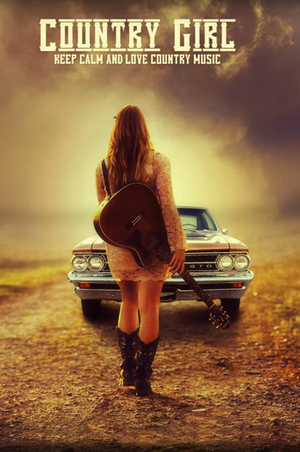 Create a Country Girl Poster Design In Photoshop