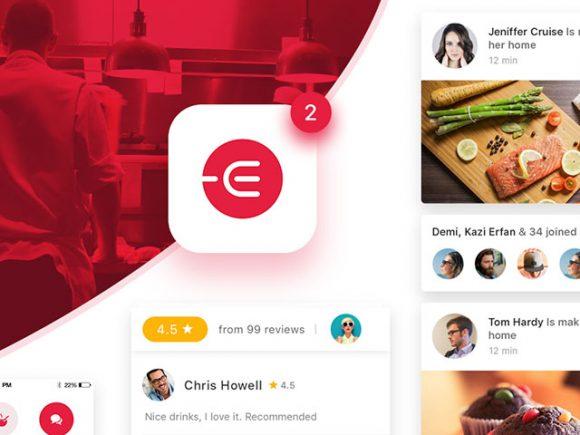Edacious: Free food UI kit for web & apps