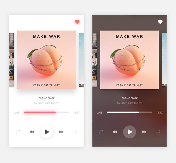 Free Music Player UI Template PSD