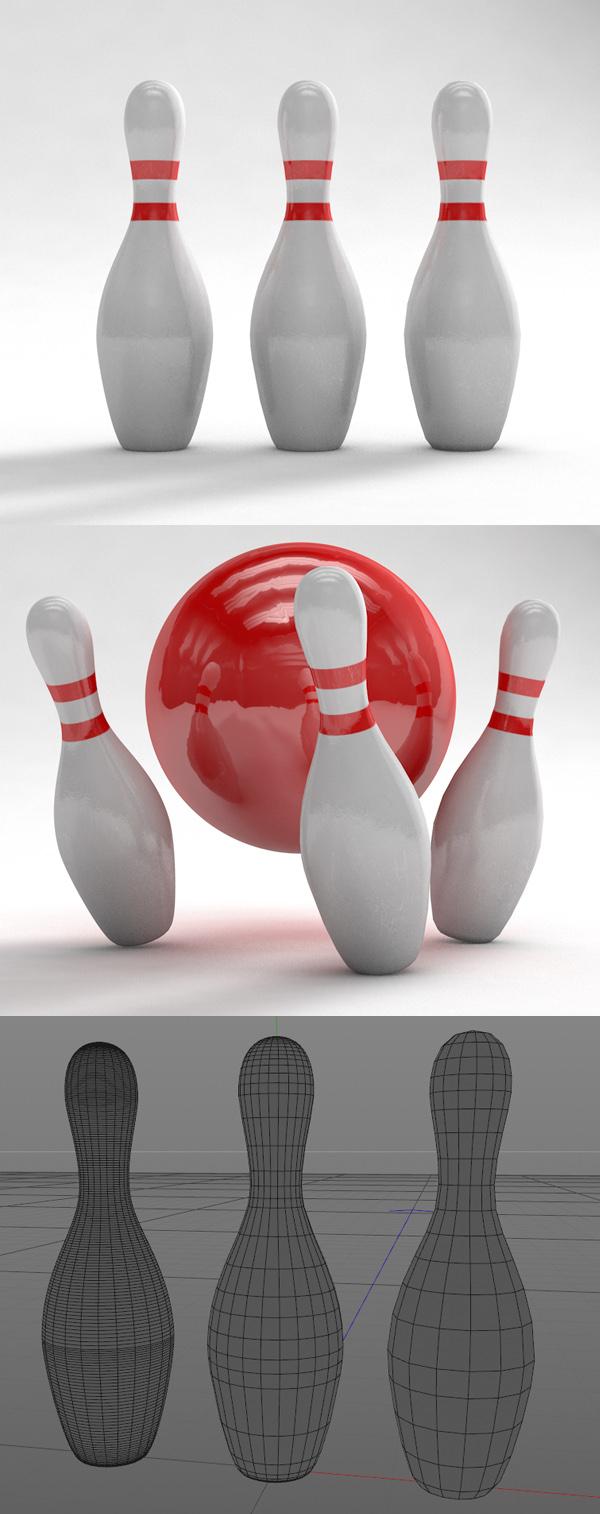 Free Bowling Pin Models and Textures