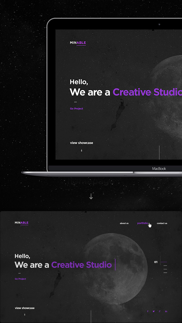 Minable Free Creative Portfolio Website Template